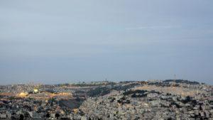 Israele-Palestina, veduta di Gerusalemme al tramonto (2018) (foto Giorgio Pagano)