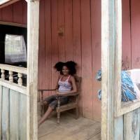 Roça di Diogo Vaz,una ragazza con i capelli ricci