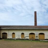 Roça di Agua Izè,la centrale caldaie a vapore,edificio già coloniale