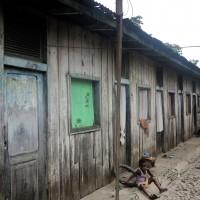 Roça di Diogo Vaz,le baracche in cui vivono i lavoratori