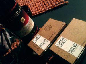 Sorgnano di Carrara, ristorante Fontanafredda il cioccolato di Claudio Corallo e il vino Luteraia   (foto Enrico Amici)